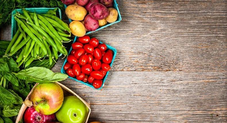 Vegetables and fruits help keep the body functioning well