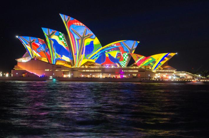 Sydney, Australia - 27th May 2016: The Vivid Sydney Light Show Festival opened on the 27th of May 20