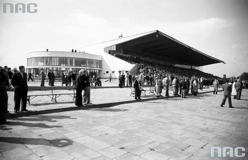 Tor Wyścigów Konnych na Służewcu w Warszawie, 1955-65 r.
