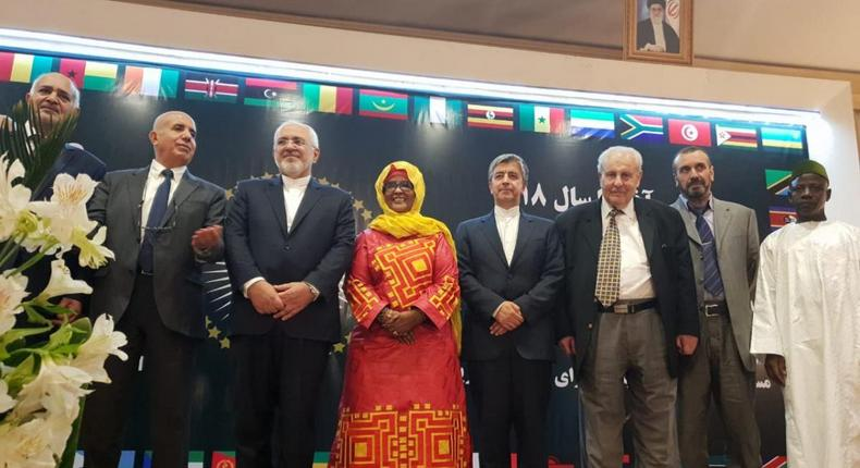 Kenyan Ambassador to Iran Rukia Ahmed Subow (Middle) during a past event