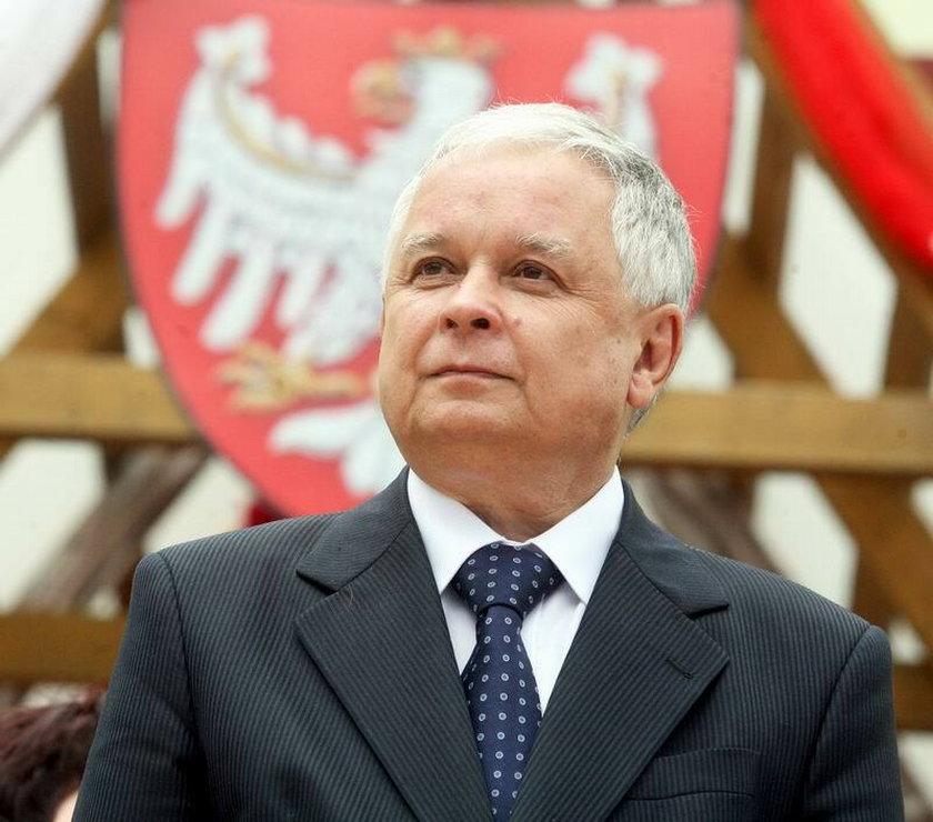 Zmarły prezydent Lech Kaczyński