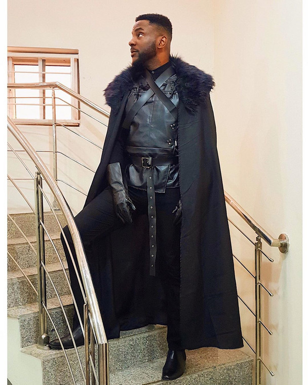 Ebuka got the memo and didn't disappoint as he came as Jon Snow [Instagram/Ebuka]