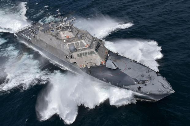 USS Detroit - jeden z niewielkich, modułowych okrętów typu LCS