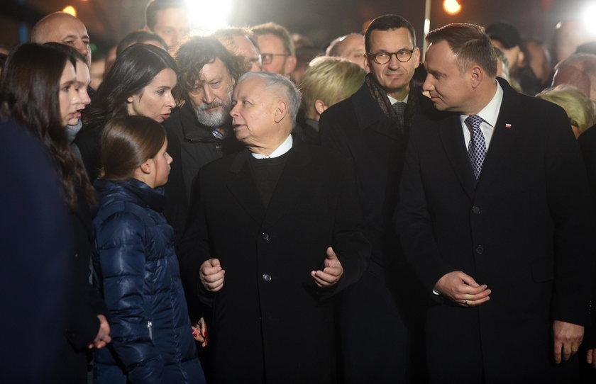 Rodzina Kaczyńskich w komplecie. Był też pasierb Marty