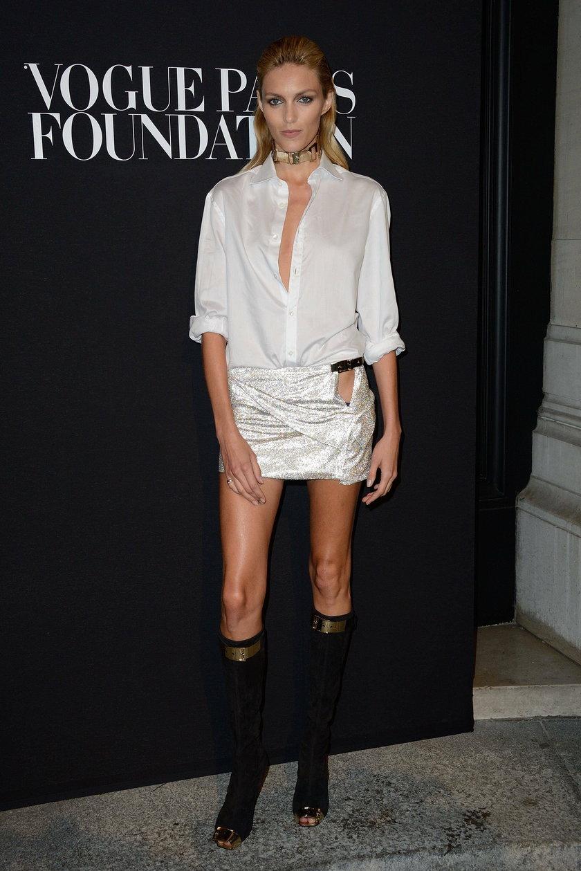 Anja Rubik na gali Vogue Foundation