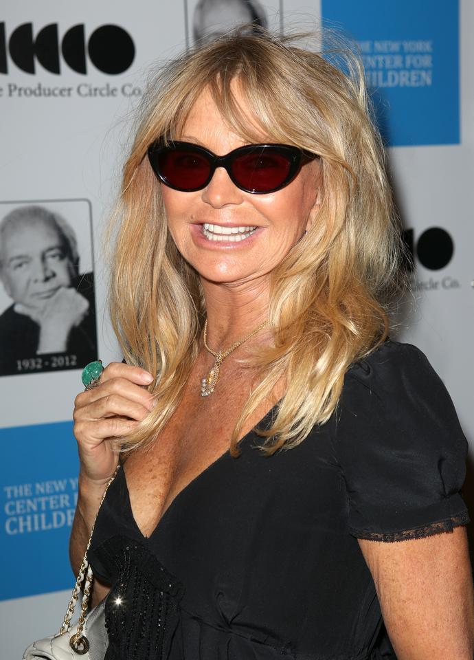 Aktorka Goldie Hawn ze zmarszczkami na szyi. Gwiazda ma