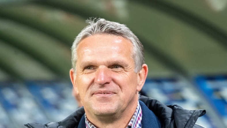 Trener ŁKS Łódź Kazimierz Moskal