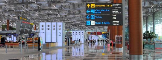 1. miejsce: Lotnisko Changi w Singapurze, które uznawane jest za jedno z najważniejszych lotnisk w Azji.