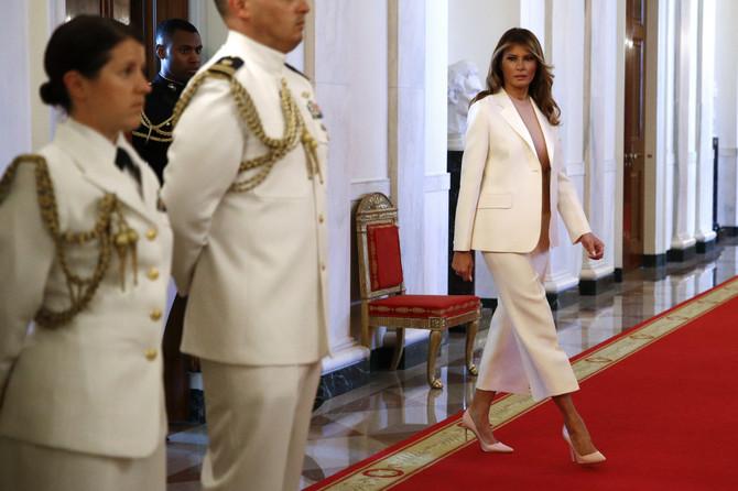Melanija Tramp danas u Beloj kući u Vašingtonu