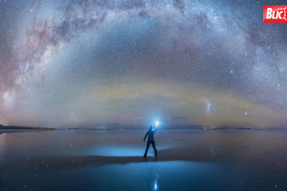 KAO TELESKOPOM Ovakve fotografije još niste videli: Na ogromnom polju soli pojavio se ODRAZ SVEMIRA
