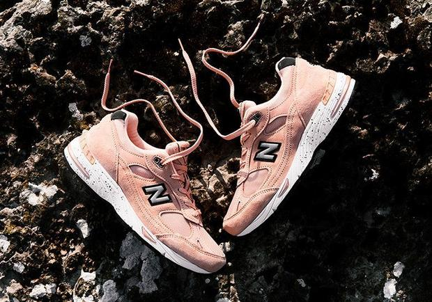 Naked x New Balance 991 in Peach Parfait