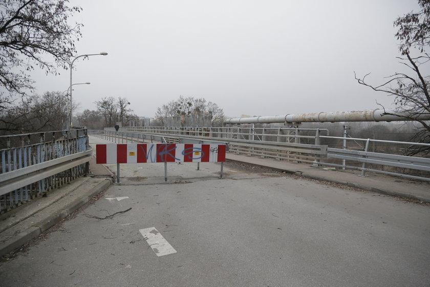 Zamknięty wiadukt na Chociebuskiej we Wrocławiu