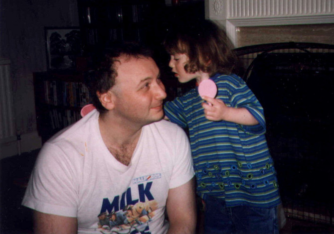 Nil Epstejn sa ćerkom