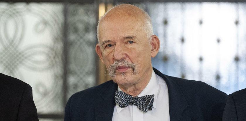 Janusz Korwin-Mikke miał wypadek. Zderzenie z ciężarówką