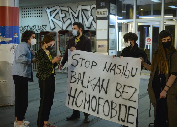 LGBT protest Beograd