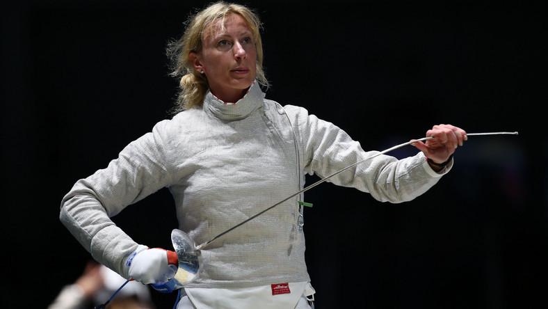 Aleksandra Socha podczas występu na igrzyskach w Rio