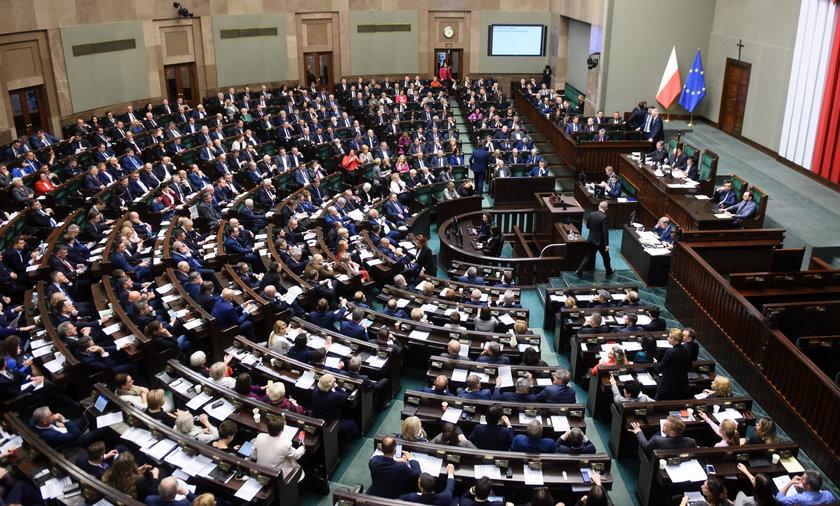 Sala obrad Sejmu.