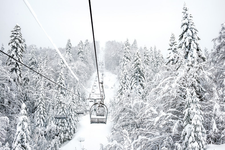 Zima w Kolasinie (Czarnogóra)