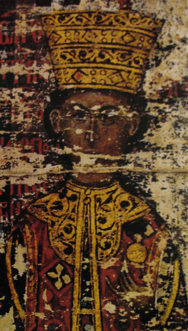 Carica Mara Branković na minijaturi sa Esfigmenske povelje (1429)