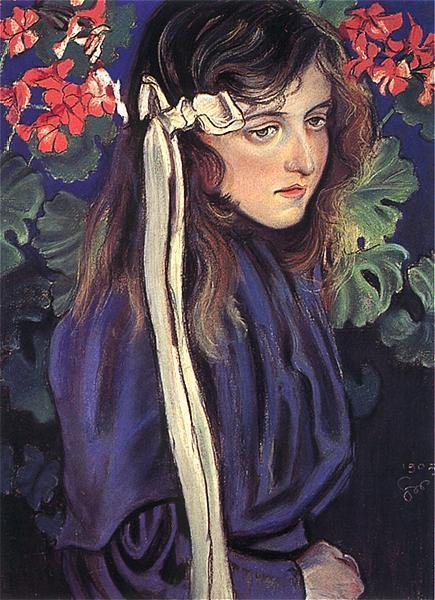 Portret Elizy Pareńskiej (pastel na kartonie), Stanisław Wyspiański 1905 rok.