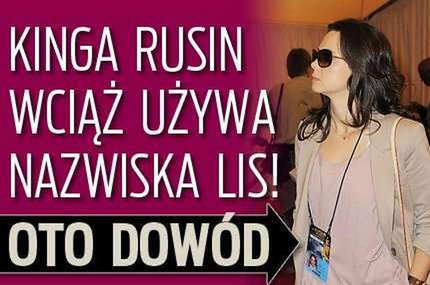 Rusin wciąż używa nazwiska Lis! Oto dowód FOTO