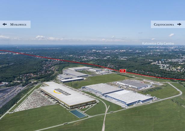 Wizualizacja nowego centrum logistycznego Amazona w Sosnowcu (fot. Panattoni Europe)