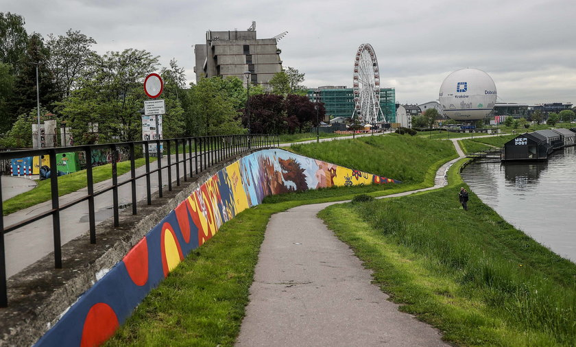 Ozdabia miasto, a także walczy ze smogiem. Wyjątkowy mural na Bulwarze Wołyńskim.