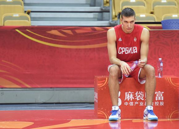 Bogdan Bogdanović na treningu u Vuhanu