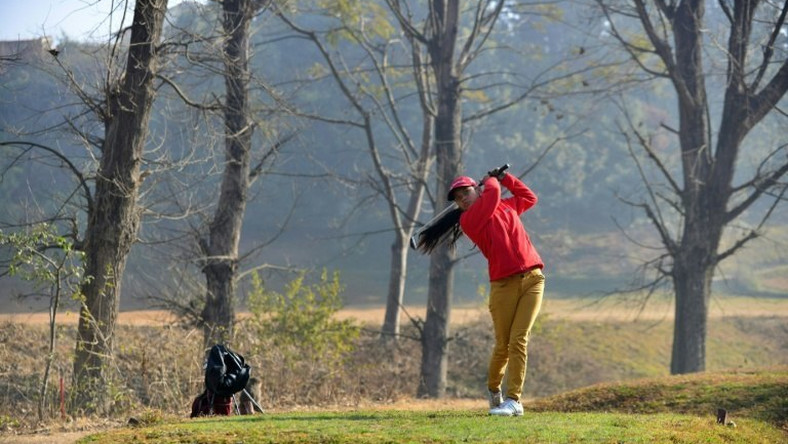 Pratima Sherpa, the daughter of labourers who work on the nine-hole Royal Nepal Golf Course, is tipped to be Nepal's first female golf professional