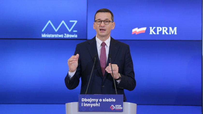 Konferencja premiera w czwartek 25.03: premier zapowiedział nowe obostrzenia od soboty 27.03.