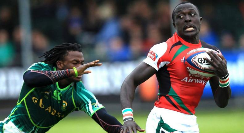 Legendary Kenya 7s rugby Utility Back Collins Injera proves to the world that nobody can outpace a Kenyan.