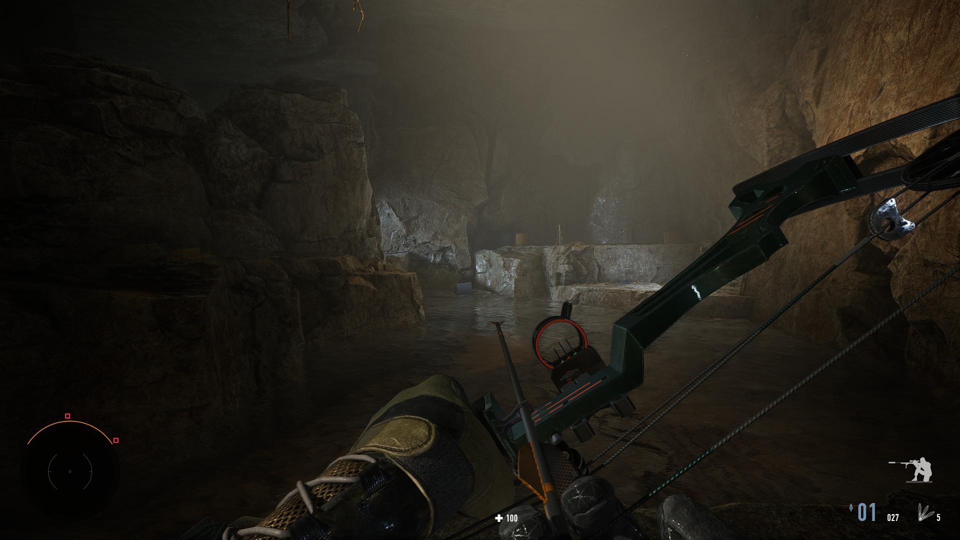 Ocitli sme sa aj v jaskyni s moderným lukom v ruke.
