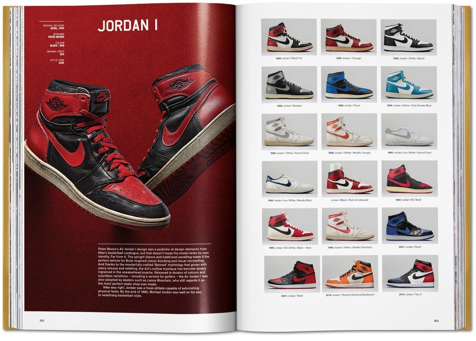 """Zwei Seiten aus dem """"Air Jordan""""-Kapitel des """"Ultimate Sneaker Book"""" vom Taschen Verlag"""