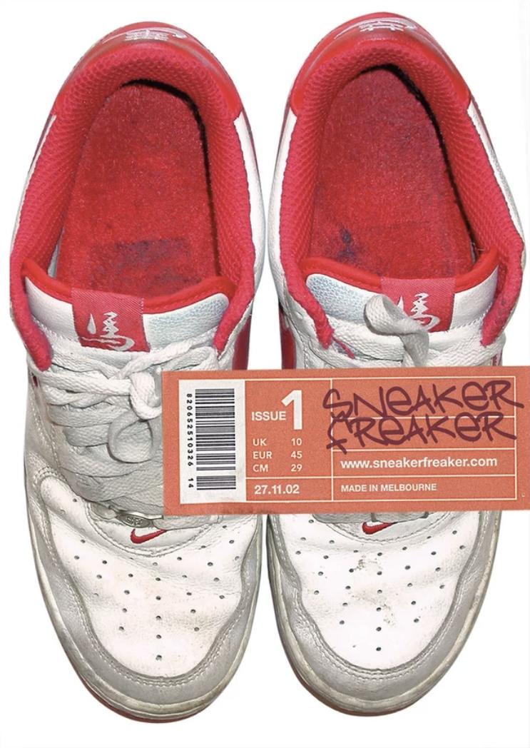 """Das Cover der ersten """"Sneaker Freaker""""-Ausgabe – auf eBay werden die wenigen Exemplare, die es davon noch gibt, immer mal wieder für 200 bis 300 Dollar gehandelt"""