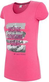 4F T-shirt damski TSD002z róż [H4Z17-TSD002] TSD002 róż