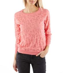 Camaeu Damski sweter z dzianiny devore 491616_6522
