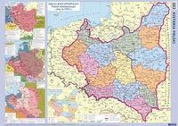 Demart  Polska mapa historyczna ścienna