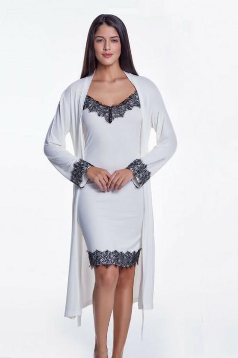 a51f7799214b92 Luisa Moretti Koszula nocna damska LORA ze szlafrokiem LM_4026 – ceny, dane  techniczne, opinie na SKAPIEC.pl