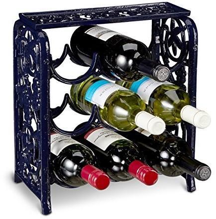 Relaxdays Regał Na Wino Z żeliwa Dla 12 Stojak Na Butelki Do Wina