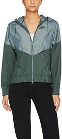 Nike damska w NSW Rally bluza z kapturem FZ Metallic kurtka z kapturem, zielony, s 874116 332