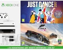 Microsoft Xbox One S 500GB Biały + Kinect + Forza Horizon 3 + Hot Wheels + Just Dance 2017 + XBL 6 m