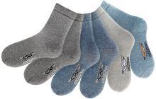 Bonprix Skarpety Arizona (6 par) ciemnoszary + antracytowy + szary + niebieski dżins + jasnoniebieski