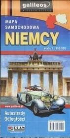 Niemcy mapa samochodowa - Wysyłka od 3,99