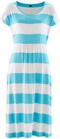 Bonprix Sukienka morsko-biały w paski