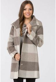 Monnari Jesienny płaszcz w kratę