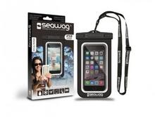 NoName Wodoodporne wodoszczelne etui do smartfona czarno białe SEAWAGB1X