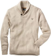 Bonprix Sweter Regular Fit naturalny melanż