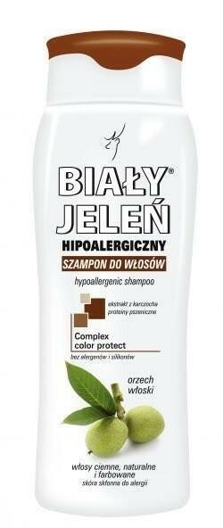 Pollena Ostrzeszów Biały Jeleń szampon do włosów ciemnych farbowanych 300ml
