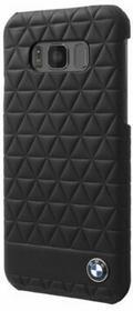 BMW Hexagon Leather Case etui skórzane na tył Samsung Galaxy S8 CZARNY NA TYŁ SKÓRA NATURALNA 32021