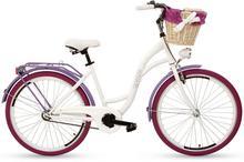 """Goetze, Rower miejski, Colours 26"""", biało-fioletowy"""
